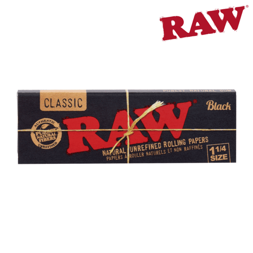 RAW BLACK 1 1/4 Natural Rolling Papers