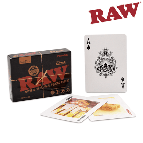 Rolling papers Raw Black Playing Cards