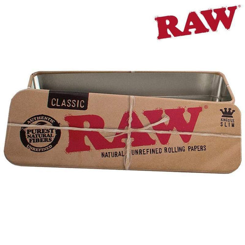 Stash box, Tins and containers RAW Roll Caddy Metal Tin Case King Size