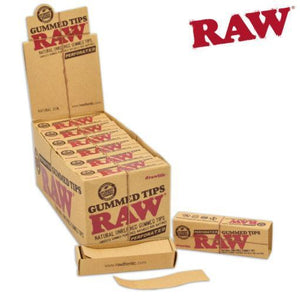 Rolling papers RAW Tips Gummed Perforated