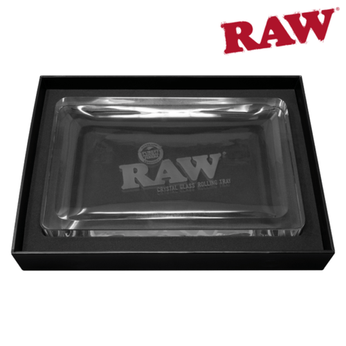 Rolling papers RAW Crystal Glass Rolling Tray