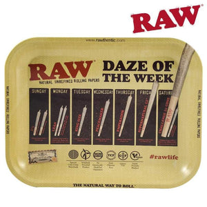 RAW Daze of the Week Rolling Tray, Size Large
