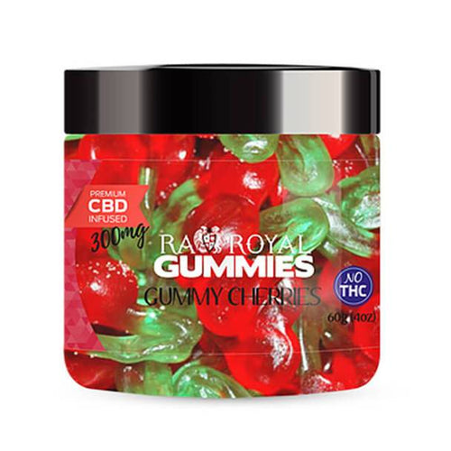 RA Royal CBD - CBD Edible - Gummy Cherries Gummies - 300mg-1200mg