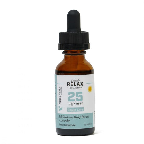 CBD Tinctures Receptra Seriously Relax + Lavender Tincture 25mg /dose