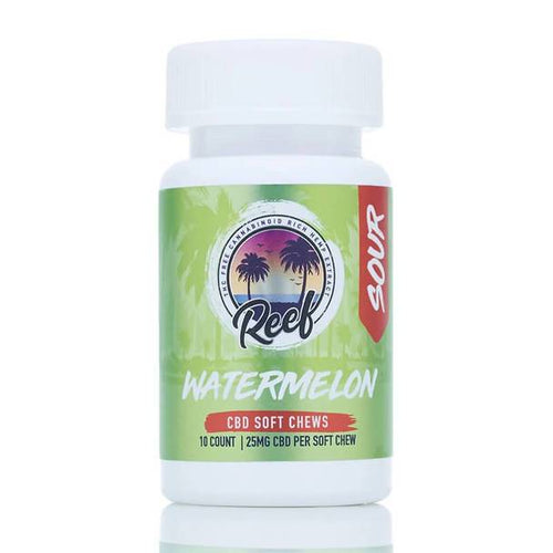 Reef - CBD Edible - Watermelon Sour Gummies - 25mg