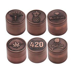 Bong Attachments Retro Color 4-Layer Herb Grinder 40MM