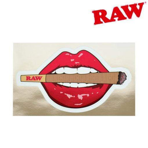 Rolling papers RAW Lips And Lit Cone Metalic Sticker