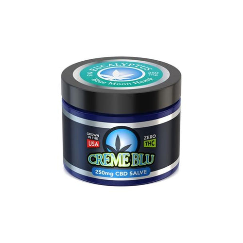 CBD Cream Blue Moon Hemp - CBD Topical - Eucalyptus Salve - 2oz
