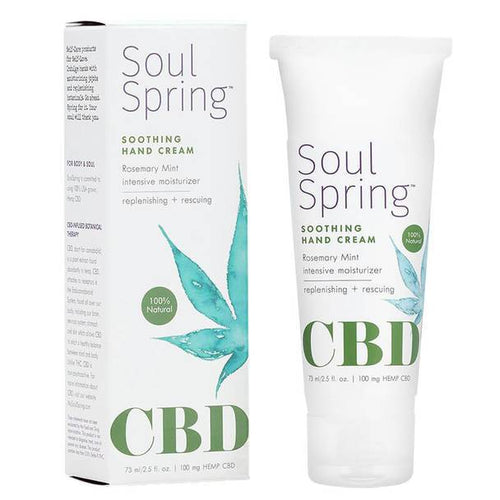 CBD Cream SoulSpring - CBD Topical - Soothing Hand Cream - 100mg