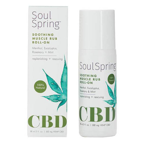 CBD Cream SoulSpring - CBD Topical - Soothing Muscle Roll-On - 500mg