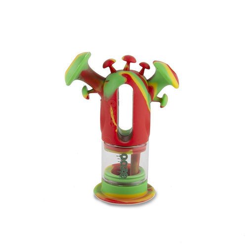 silicone bong Ooze Trip Pipe Silicone Bubbler - Rasta