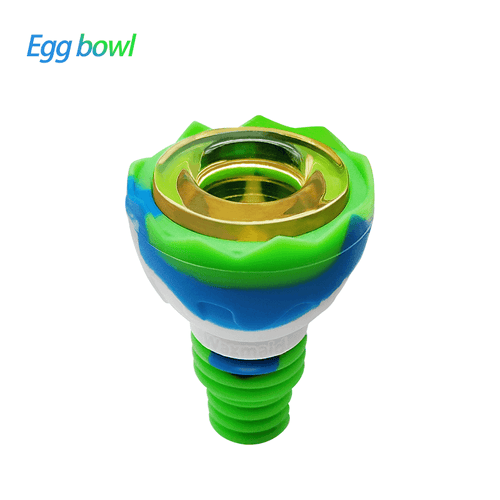 bong accessories Waxmaid 14mm 18mm Egg Silicone Glass Bowl