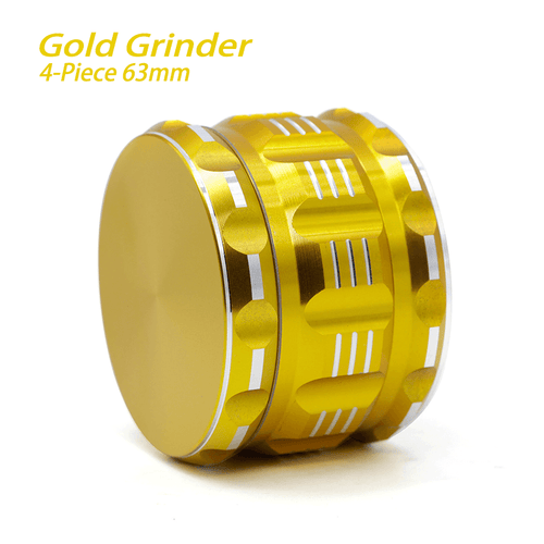 bong accessories Waxmaid 4-Piece Polygon Herb Grinder Gold 63mm