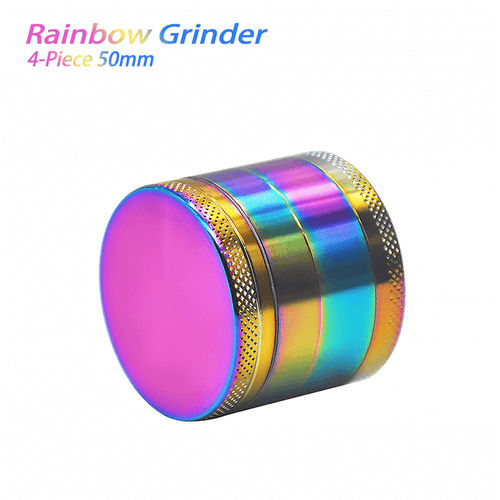 bong accessories Waxmaid 4-Piece Rainbow Dry Herb Grinder 50mm