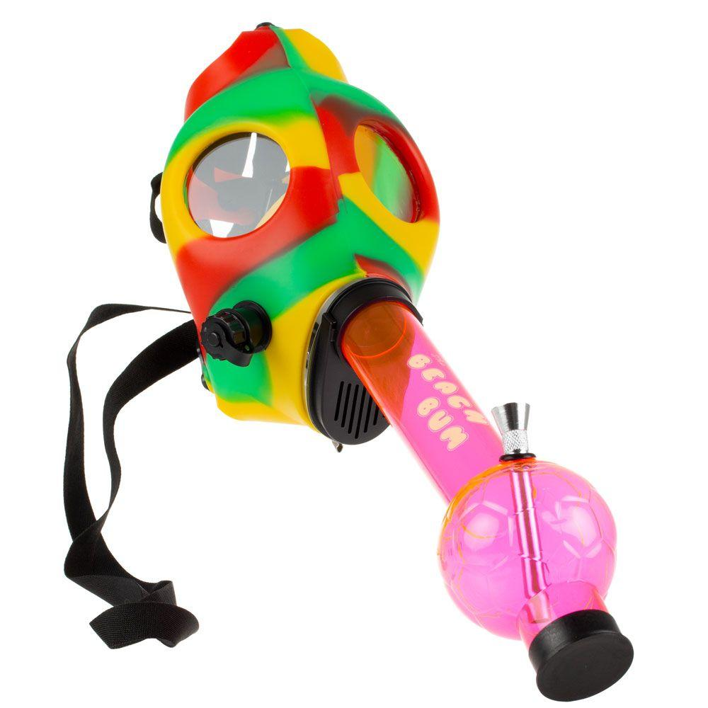 The Beach Bum Gas Mask Bong with Acrylic Tube
