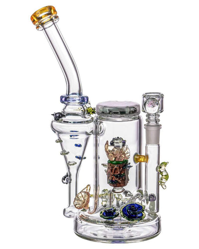 Dab Rigs Empire Glassworks - Self Illuminating Forest Night Themed Recycler