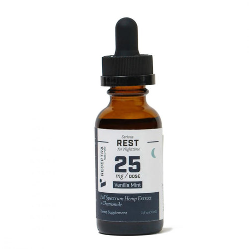 CBD Tinctures Receptra Serious Rest + Chamomile Tincture 25mg /dose