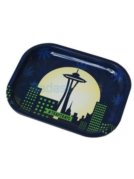 rolling tray Seattle Skyline Tray by Trap Trays