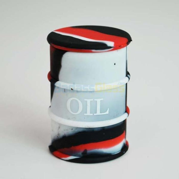 White & Red Oil Drum Wax Container