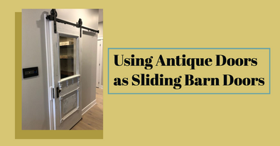 Turn an Antique Door into a Sliding Door
