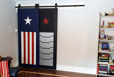 My new Captain America Barn Doors