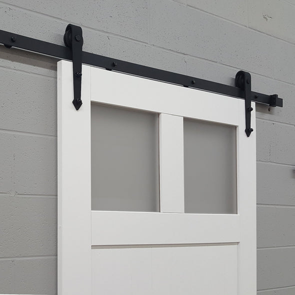 Craftsman Barn Door with windows