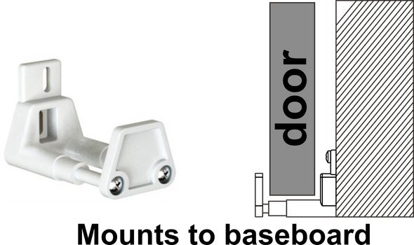 The EZ Install bottom guide is the simplest to use bottom guide for barn door hardware