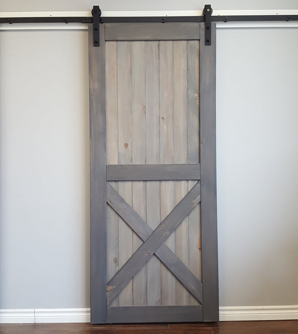 The Half X adds a little rustic to your room, without being overpowering. Shown here in grey and weathered grey finish.