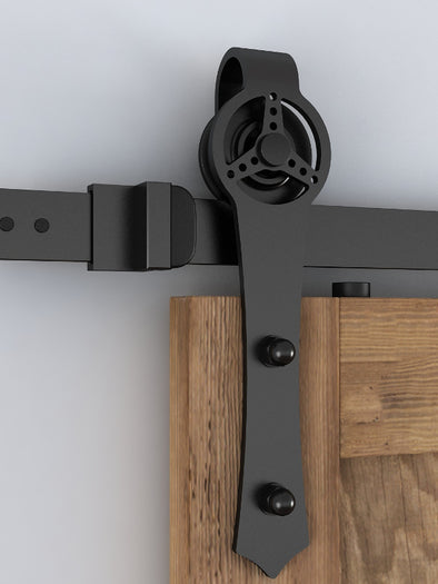 Racing Wheel Barn Door Hardware with Soft Close Technology