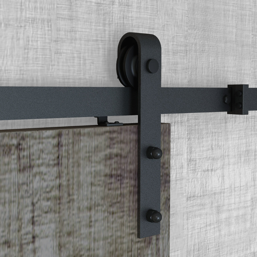 Bent Strap Barn Door Hardware With Soft Close Technology
