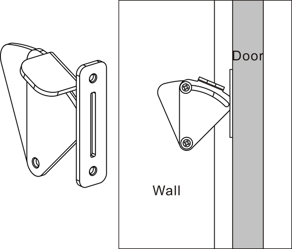 Barn Door Privacy Latch - stainless steel