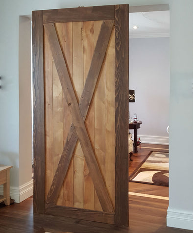 Viba Big X Solid Pine Barn Door