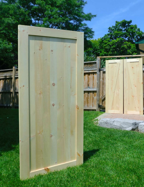Large unfinished ranch door ready for your finish.