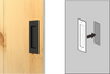 Recessed Barn Door Pull in Black Steel