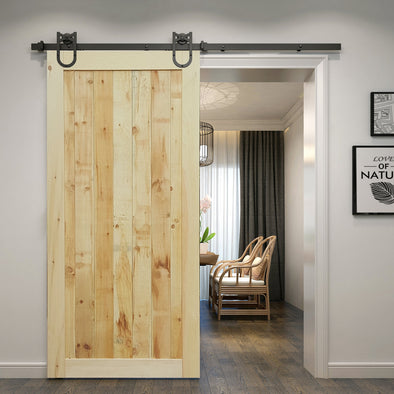Refined rustic with vertical panels lightly roughened wood, for a very solid appearance