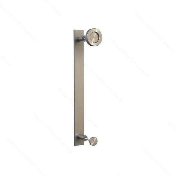 Double sided handle and pull combination for barn door hardware