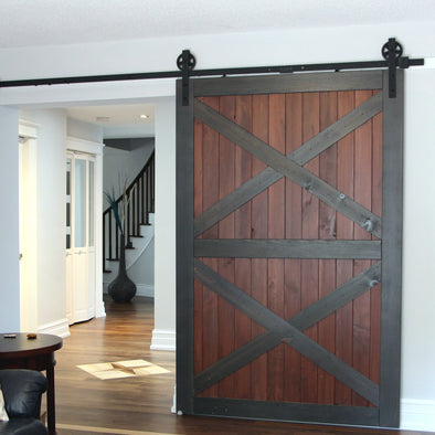 A great example of a double x door in a larger size, this being an 84 X 56 inch model.