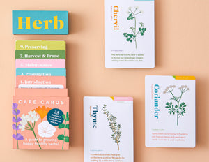 herb care cards pack
