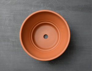 21cm Italian Terracotta Ribbed Bowl Planter