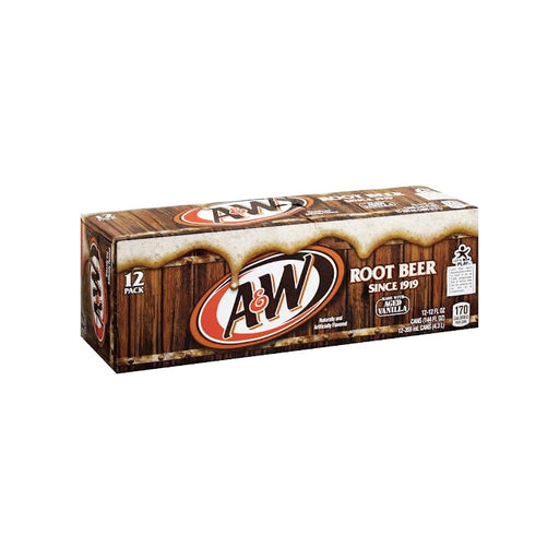 A&W Root Beer Regular 12oz x 12 (Carton Deal)