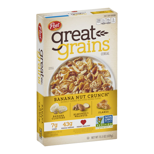 Post Great Grains Cereal - Banana Nut Crunch 439g