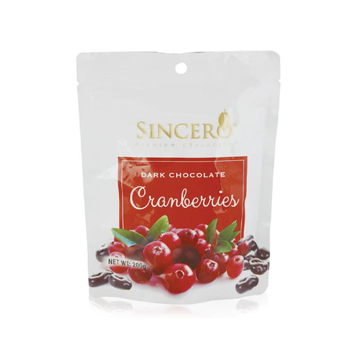 Sincero Dark Chocolate Coated Cranberries 50g/200g