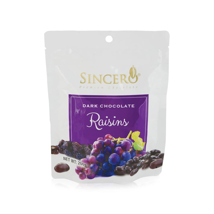 Sincero Dark Chocolate Coated Raisins 50g/200g