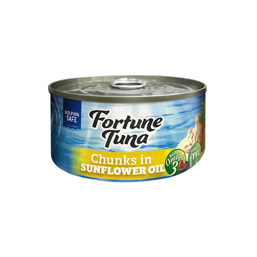 Fortune Tuna Chunks in Sunflower Oil 185g