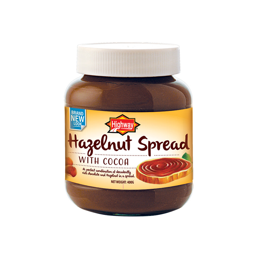 Highway Hazelnut Spread with Cocoa 400g