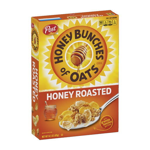 Post Honey Bunches Of Oats Cereal - Honey Roasted 411g