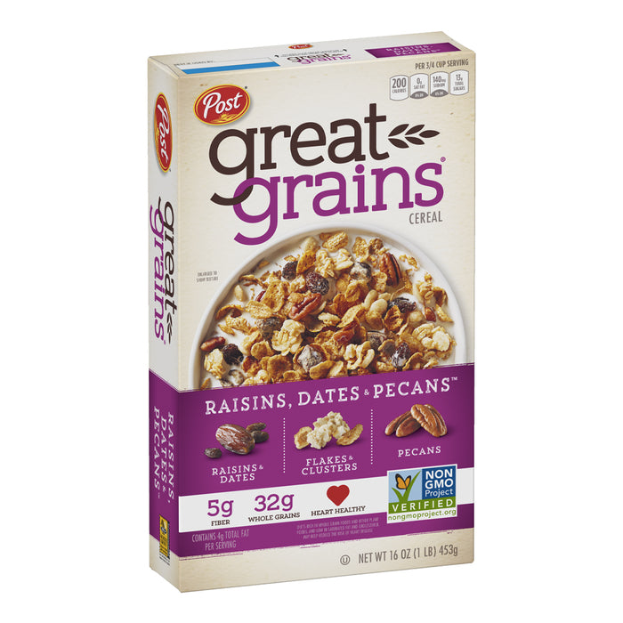 Post Great Grains Cereal - Raisins, Dates & Pecans 453g