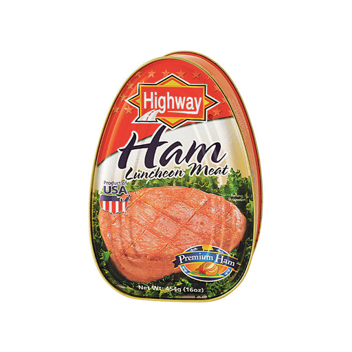 Highway USA Premium Ham Luncheon Meat 454g