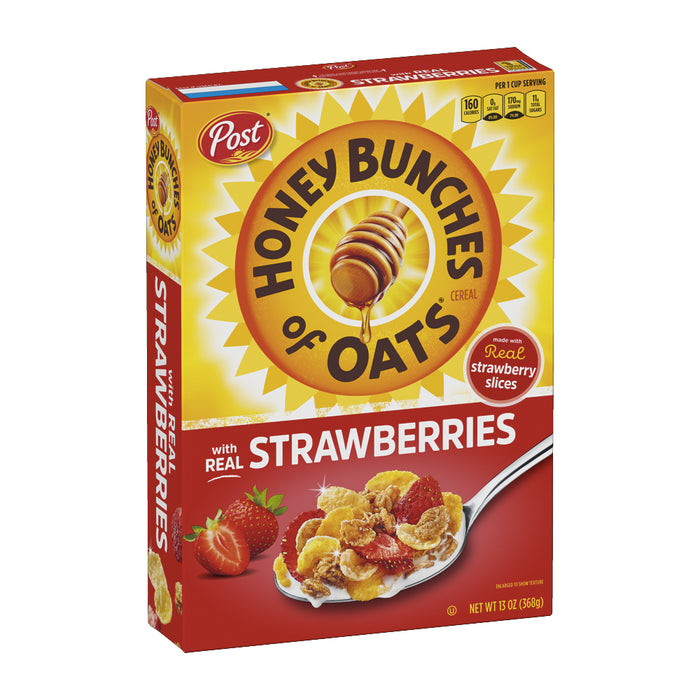 Post Honey Bunches Of Oats Cereal - With Strawberries 368g