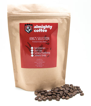 Almighty King's Selection Single Origin Beans (250g pack)
